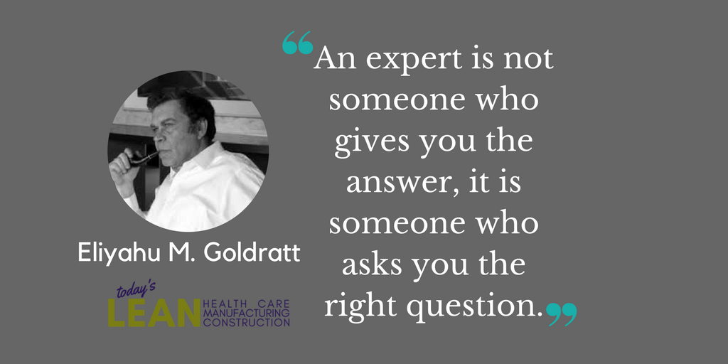 A Lean expert is…